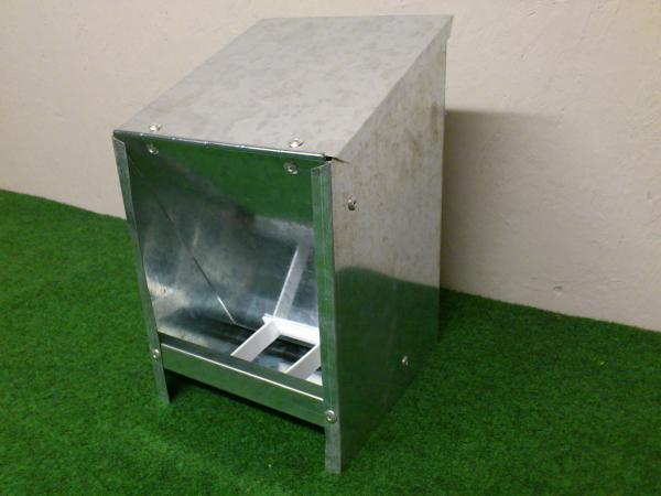 Metalen voederbak zelfrijzer 2,5 kg
