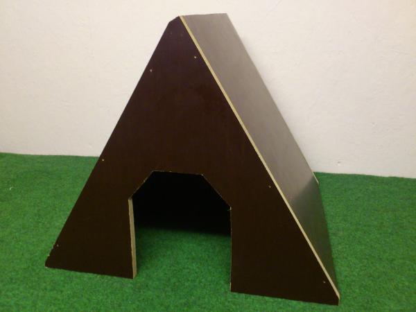Schuilhok betonplex voor konijnen, cavia's, kwartels, ...